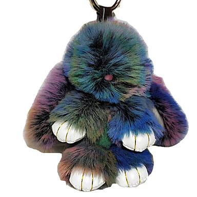 ieftine Breloc-breloc Rabbit Casual Model cu Animale Modă Inele la Modă Bijuterii Verde / Albastru / Maro Pentru Școală Stradă