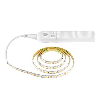رخيصةأون شرائط ضوء مرنة LED-1 قطعة 1 متر 60led 8 ملليمتر استشعار الحركة اللاسلكية أدى ضوء الليل السرير الدرج ضوء led قطاع مصباح 5 فولت للتلفزيون الإضاءة الخلفية