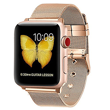 Недорогие Ремешки для Apple Watch-Ремешок для часов для Серия Apple Watch 5/4/3/2/1 Apple Миланский ремешок Нержавеющая сталь Повязка на запястье