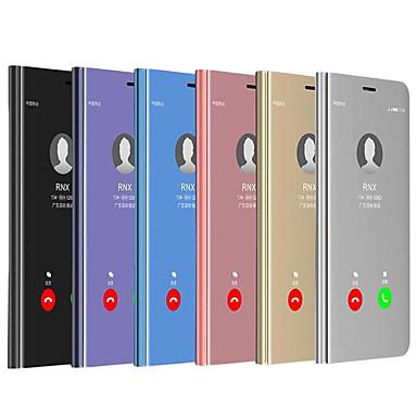 رخيصةأون حافظات / جرابات هواتف جالكسي A-غطاء من أجل Samsung Galaxy A5(2018) / A6 (2018) / Galaxy A7(2018) ضد الصدمات / مقاوم للماء / مرآة غطاء كامل للجسم لون سادة قاسي جلد PU / الكمبيوتر الشخصي