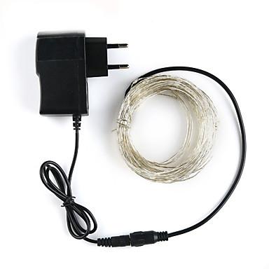 رخيصةأون LED وإضاءة-LOENDE 5m أضواء سلسلة 50 المصابيح 1SET أبيض دافئ RGB أبيض حزب ديكور زفاف 100-240 V