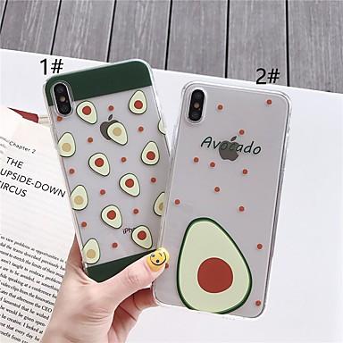 voordelige iPhone X hoesjes-case voor apple iphone xr / iphone xs max patroon achterkant voedsel zachte tpu voor iphone x xs 8 8 plus 7 7 plus 6 6 plus 6 s 6 s plus