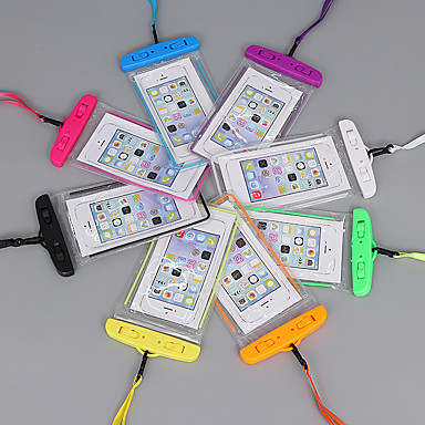 Недорогие Универсальные чехлы и сумочки-Кейс для Назначение Apple Универсальный Водонепроницаемый / Сияние в темноте / Защита от пыли Водонепроницаемый мешочек Мультипликация Мягкий PVC