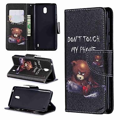 Недорогие Чехлы и кейсы для Nokia-Кейс для Назначение Nokia Nokia 8 / Nokia 7.1 / Nokia 6 Кошелек / Бумажник для карт / Защита от удара Чехол Слова / выражения / Мультипликация Твердый Кожа PU