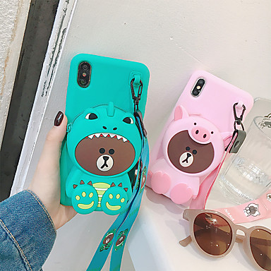 voordelige iPhone 7 hoesjes-hoesje voor apple iphone xs max / iphone x portemonnee achterkant 3d cartoon hard tpufor iphone 6 / iphone 6 plus / iphone 6s / 6splus / 7/8/7 plus / 8 plus / x / xs / xr / xs max