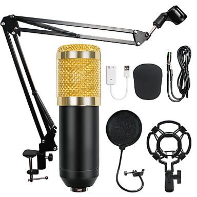 olcso Mikrofonok-bm-800 kondenzátor hang 3,5 mm vezetékes stúdió mikrofon hangfelvétel ktv karaoke mikrofon készlet mikrofon állvány számítógéphez