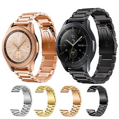 voordelige Smartwatch-accessoires-Horlogeband voor Samsung Galaxy Watch 46 / Samsung Galaxy Watch 42 Samsung Galaxy Klassieke gesp Roestvrij staal Polsband