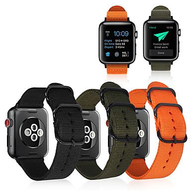 Недорогие Ремешки для Apple Watch-Ремешок для часов для Apple Watch Series 4/3/2/1 Apple Спортивный ремешок Материал / Нейлон Повязка на запястье