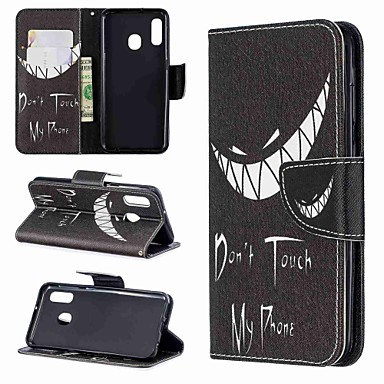 voordelige Galaxy A-serie hoesjes / covers-case for samsung galaxy a70 (2019) / a20e patroon / magnetisch / flip full body cases woord / uitdrukking hard pu leer voor galaxy a10 / a30 / a20 / a30 / a40 / a50 / a70 2018 / a6 2018 / a8 plus 2018