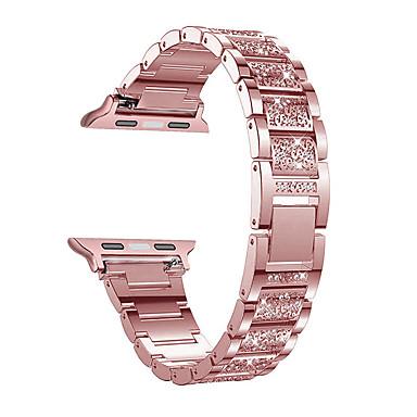 voordelige Mobiele telefoon-accessoires-horlogeband voor Apple Watch-serie 4/3/2/1 Apple Jewelry Design roestvrijstalen polsband