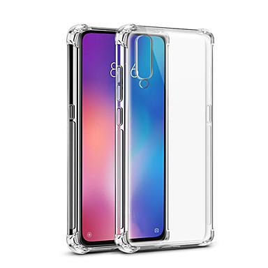 Недорогие Чехлы и кейсы для Xiaomi-Кейс для Назначение Xiaomi Xiaomi Mi 9 Защита от удара / Прозрачный Кейс на заднюю панель Прозрачный Мягкий ТПУ