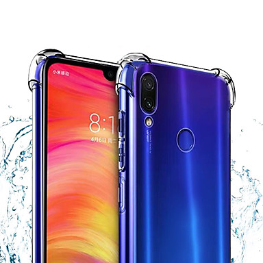 غطاء من أجل Xiaomi Xiaomi Mi 9 SE ضد الغبار / مقاوم للماء / شفاف غطاء خلفي لون سادة / شفاف ناعم TPU
