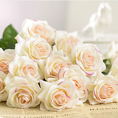 levne Zařízení domácnosti-Umělá květina Umělá hmota Svatba Kytice Květina na stůl Kytice 1