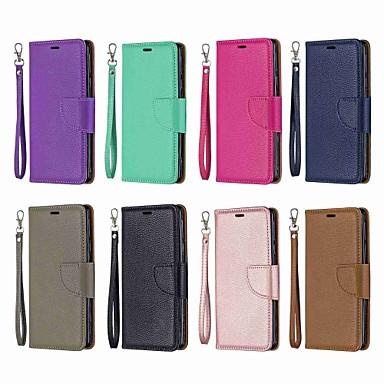 رخيصةأون Nokia أغطية / كفرات-غطاء من أجل نوكيا Nokia 5.1 / نوكيا 4.2 / Nokia 3.1 محفظة / حامل البطاقات / مع حامل غطاء كامل للجسم لون سادة قاسي جلد PU