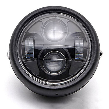 voordelige Motorverlichting-Universele motorfiets 12v led metalen koplamp projector hoofdlamp montage opnieuw monteren