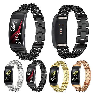 Недорогие Часы для Samsung-Ремешок для часов для Gear Fit Pro Samsung Galaxy Бабочка Пряжка Металл Повязка на запястье