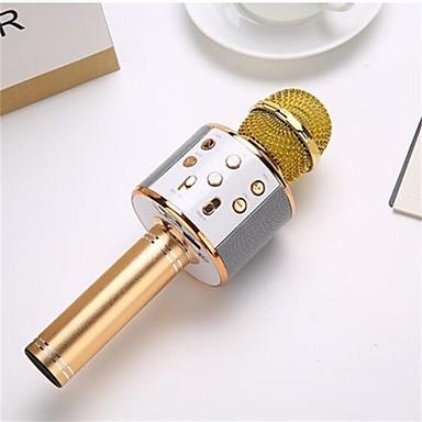 olcso Mikrofonok-professzionális vezeték nélküli karaoke mikrofon hangszóró kondenzátor mikrofon zacskó bluetooth rádió stúdió rekord mikrofonnal