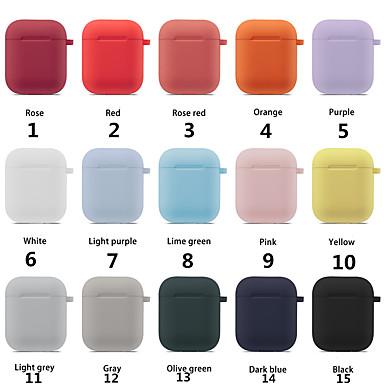 olcso Fejhallgató tartozékok-színes fülhallgató-védő szett az Apple airpods hordozható szilikon heveder burkolathoz a levegő hüvelyekhez