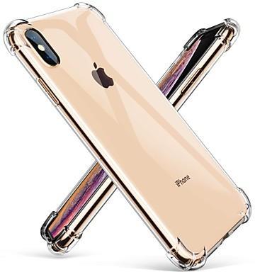Недорогие Кейсы для iPhone X-чехол для apple iphone xr iphone xs max прозрачный ультратонкий противоударный задняя крышка сплошного цвета жесткий тпу для iphone 8 8 плюс 7 плюс 7 xs