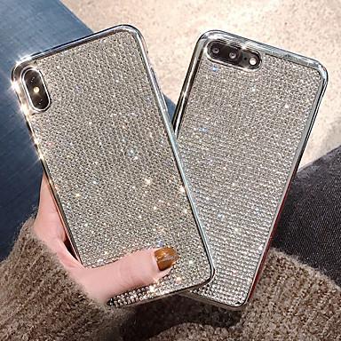 voordelige iPhone-hoesjes-hoesje Voor Apple iPhone XS / iPhone XR / iPhone XS Max Schokbestendig / Waterbestendig / Strass Achterkant Effen Zacht TPU