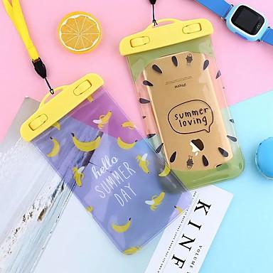 Недорогие Универсальные чехлы и сумочки-5.5-дюймовый фруктовый мультфильм мобильный телефон водонепроницаемый мешок открытый пвх водонепроницаемый чехол плавание висит шеи унисекс