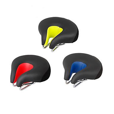 olcso Egyéb kerékpár kiegészítők-Nyereg Nagyon széles Mokaszinok Párna Üreges design PU bőr Silica Gel Kerékpározás Treking bicikli Mountain bike Piros Zöld Kék