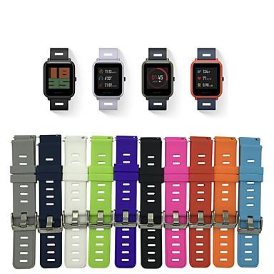 저렴한 Xiaomi 밴드 시계-시계 밴드 용 Huami Amazfit Bip Younth Watch Xiaomi 스포츠 밴드 실리콘 손목 스트랩