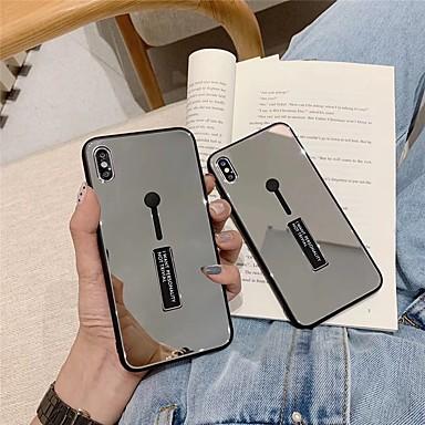voordelige iPhone X hoesjes-hoesje voor apple iphone xs max / iphone x spiegel achterkant harde gekleurde harde acryli voor iphone 6 / iphone 6 plus / iphone 6s / 6splus / 7/8/7 plus / 8 plus / x / xs / xr / xs max