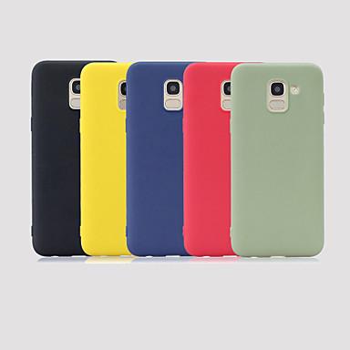 رخيصةأون حافظات / جرابات هواتف جالكسي J-غطاء من أجل Samsung Galaxy J6 (2018) / J5 (2017) / J5 (2016) مثلج غطاء خلفي لون سادة ناعم TPU