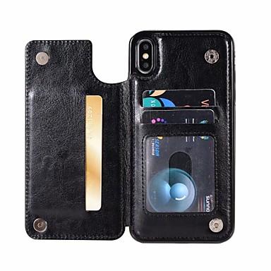 voordelige iPhone 5 hoesjes-voor apple iphone 5g 6g 6plus 7g 7plus 8g 8plus iphone x iphone xs iphone xr iphone xs max magnetische lederen portemonnee schokbestendig case cover