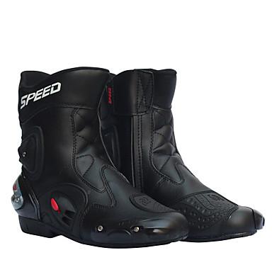 voordelige Beschermende uitrusting-heren motorraceschoenen lederen motorlaarzen motorrijders motorcross off-road motorlaarzen schoen
