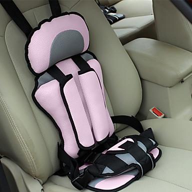 olcso Beltéri autós kiegészítők-autós biztonsági ülés állítható, hordozható, kényelmes, lélegző poliészter szövet vastagító baba biztonsági ülés gyermekvédő ülés (3 ~ 12 éves)