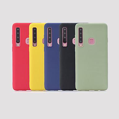 رخيصةأون حافظات / جرابات هواتف جالكسي A-غطاء من أجل Samsung Galaxy Galaxy A7(2018) / Galaxy A9 (2018) / Galaxy A10 (2019) مثلج غطاء خلفي لون سادة ناعم TPU