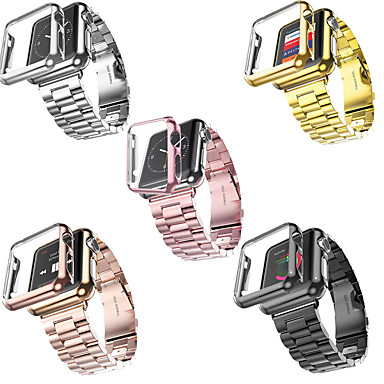 Недорогие Ремешки для Apple Watch-SmartWatch ремешок для Apple Watch серии 4/3/2/1 Apple, современный пряжки из нержавеющей стали ремешок из пластика, чехлы iwatch модный ремешок