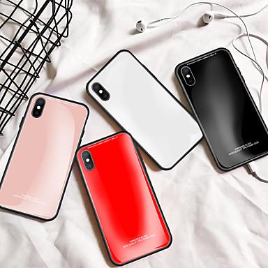 Недорогие Кейсы для iPhone X-чехол для яблока сплошное цветное стекло зеркало задняя крышка корпуса мобильного телефона подходит для iphone6 / 6s / 6splus / 7 / 7plus / 8 / 8plus / x / xr / xs / xsmax