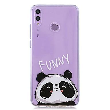 voordelige Huawei Mate hoesjes / covers-hoesje voor huawei honor 8x / huawei p smart (2019) patroon / transparante achterkant schattige panda zachte tpu voor mate10 pro / mate10 lite / y6 (2018) / y5 (2018) / p20 lite / p smart / p20 pro