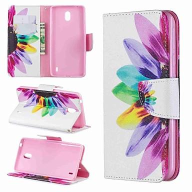 Недорогие Чехлы и кейсы для Nokia-чехол для nokia nokia 4.2 / nokia 3.2 магнитный / флип / противоударный чехол для всего тела мультфильм / цветочная твердая кожа pu для nokia 1 plus / nokia 2 / nokia 2.1