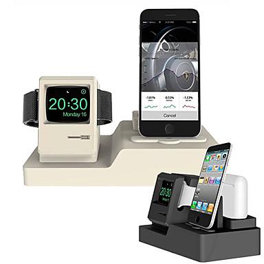 Недорогие Крепления и держатели для Apple Watch-подставка для мобильного телефона часы гарнитура зарядка кронштейн без линии apple силикагель стол / кровать чистое размещение кронштейн