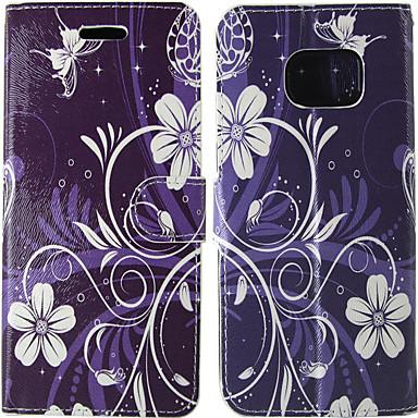 olcso Galaxy S4 Mini tokok-Case Kompatibilitás Samsung Galaxy S8 / S7 / S5 Mini Kártyatartó / Flip Héjtok Egyszínű / Virág Kemény PU bőr
