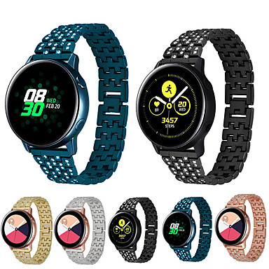 voordelige Horlogebandjes voor Samsung-Horlogeband voor Samsung Galaxy Active Samsung Galaxy Butterfly Buckle Roestvrij staal Polsband