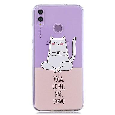voordelige Huawei Mate hoesjes / covers-case voor huawei honor 8x / huawei p smart (2019) patroon / transparante achterkant yoga kat zachte tpu voor mate20 lite / mate10 lite / y6 (2018) / p20 lite / nova 3i / p smart / p20 pro