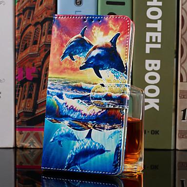 رخيصةأون حافظات / جرابات هواتف جالكسي J-غطاء من أجل Samsung Galaxy J8 (2018) / J7 (2017) / J6 (2018) محفظة / حامل البطاقات / مع حامل غطاء كامل للجسم حيوان قاسي جلد PU