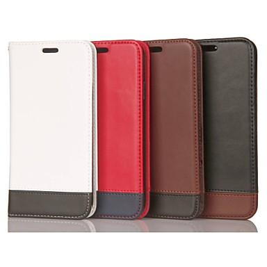 Недорогие Чехлы и кейсы для Galaxy S6 Edge-Кейс для Назначение SSamsung Galaxy S9 / S9 Plus / S8 Plus Бумажник для карт / Защита от удара / со стендом Чехол Геометрический рисунок Твердый Настоящая кожа