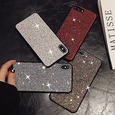 voordelige iPhone X hoesjes-hoesje Voor Apple iPhone XS / iPhone XR / iPhone XS Max Glitterglans Achterkant Glitterglans Hard PVC