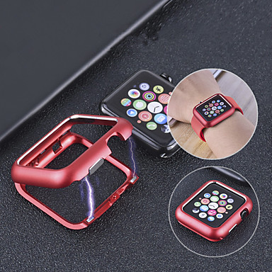 voordelige Smartwatch-hoezen-koffer voor apple apple watch serie 4/3/2/1 / magnetische adsorptie metalen frame beschermhoes voor apple watch serie 4 metalen appel