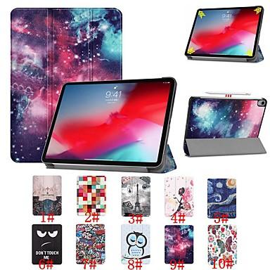 Недорогие Кейсы для iPhone-Кейс для Назначение Apple iPad Pro 11'' Защита от удара / Флип / Ультратонкий Чехол Цвет неба / Пейзаж / Цветы Твердый Кожа PU