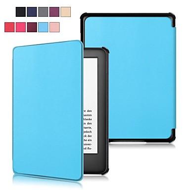 Недорогие Kindle Paperwhite-Кейс для Назначение Amazon Kindle Lite (2019) / Kindle PaperWhite 4 2018 Защита от удара / со стендом / Ультратонкий Чехол Однотонный Твердый Кожа PU