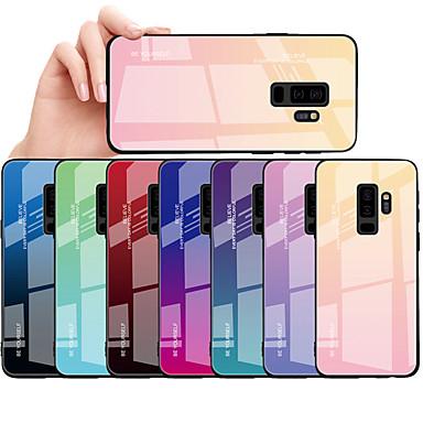 Недорогие Чехлы и кейсы для Galaxy S-Кейс для Назначение SSamsung Galaxy S9 / S9 Plus / S8 Plus Защита от пыли / Защита от влаги Кейс на заднюю панель Градиент цвета Твердый Закаленное стекло