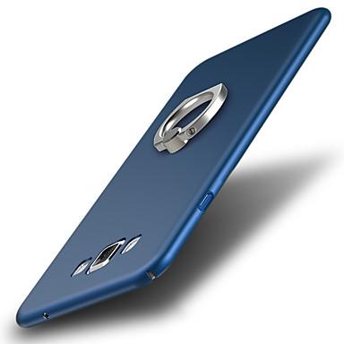 رخيصةأون حافظات / جرابات هواتف جالكسي A-غطاء من أجل Samsung Galaxy A7 ضد الصدمات / حامل الخاتم غطاء خلفي لون سادة قاسي بلاستيك