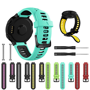 cheap Mobile Phone Accessories-Watch Band for Forerunner 735 / Forerunner 630 / Forerunner 620 Garmin Sport Band / Classic Buckle / DIY Tools Silicone Wrist Strap